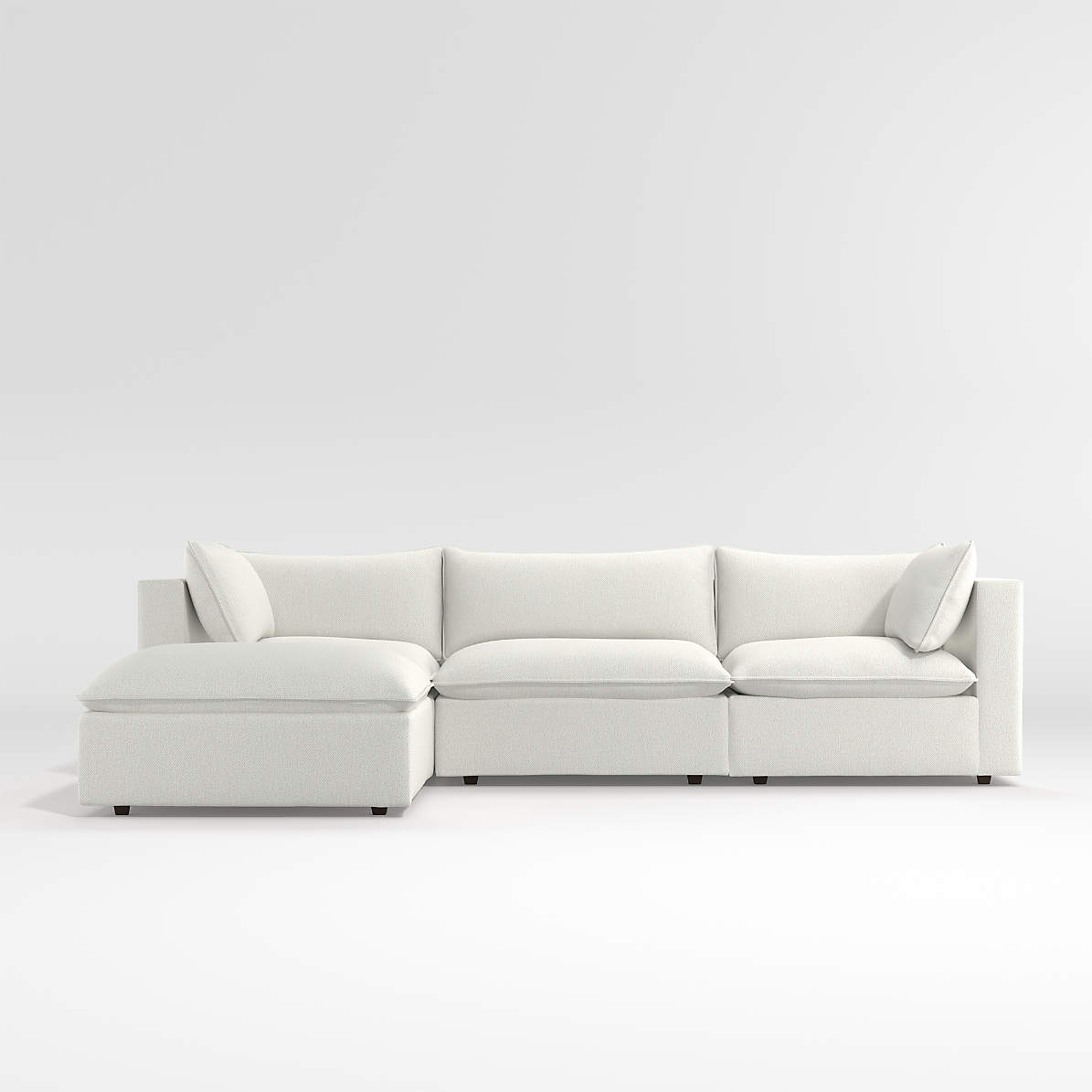 lotus 4 piece reversible sectional with ottoman