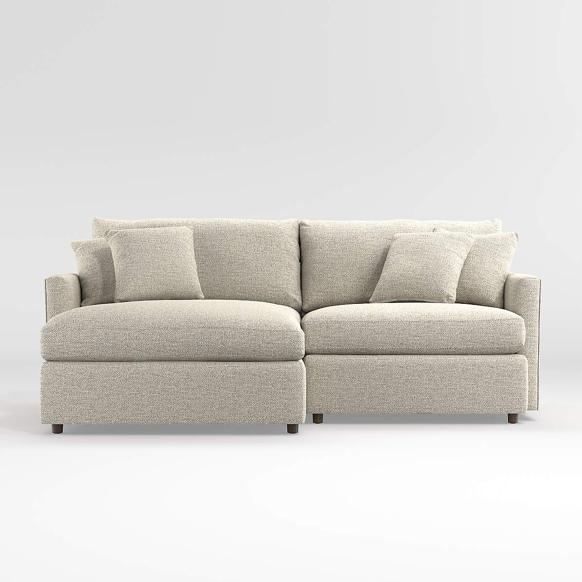 Lounge 2 Piece Small Space Sectional Crate And Barrel Canada