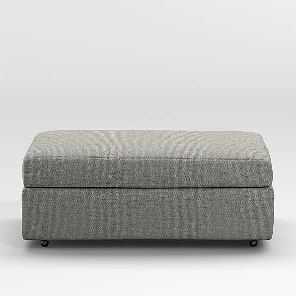 ottomans with wheels crate and barrel