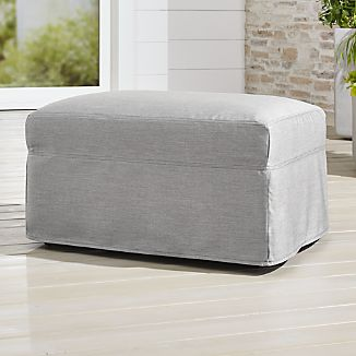 slipcover only for lounge ii petite outdoor ottoman
