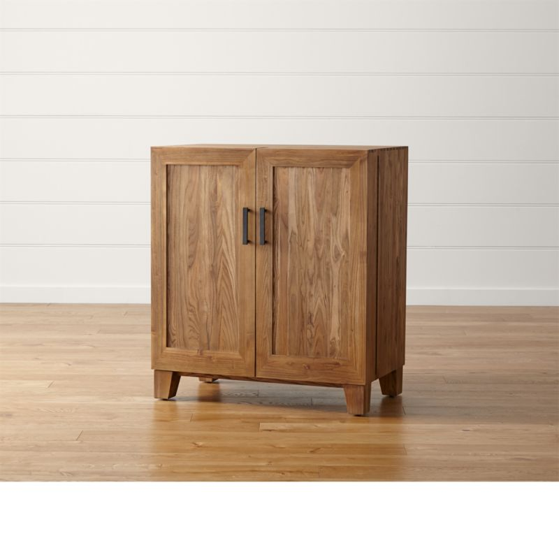 Marin Natural Bar Cabinet   Reviews   Crate and Barrel