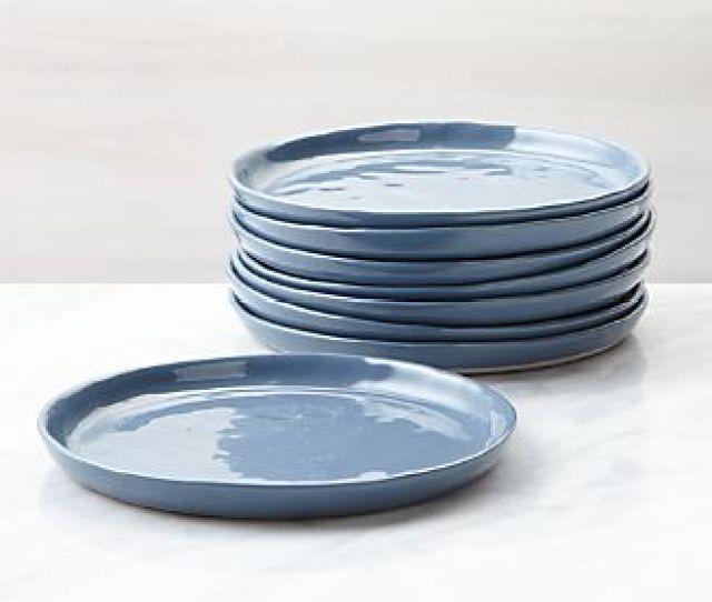 Mercer Denim Appetizer Plates Set Of