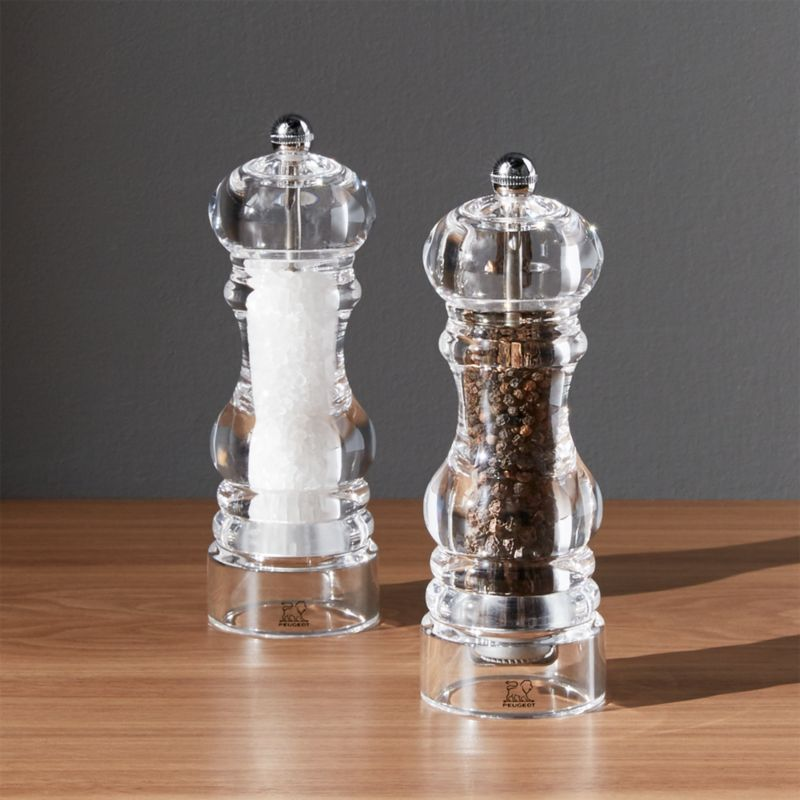 Peugeot Acrylic Salt And Pepper Grinders Crate And Barrel