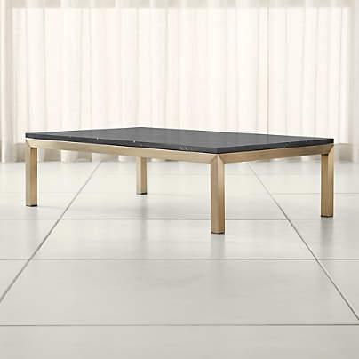 https www crateandbarrel com parsons black marble top dark steel base 48x28 small rectangular coffee table s228563