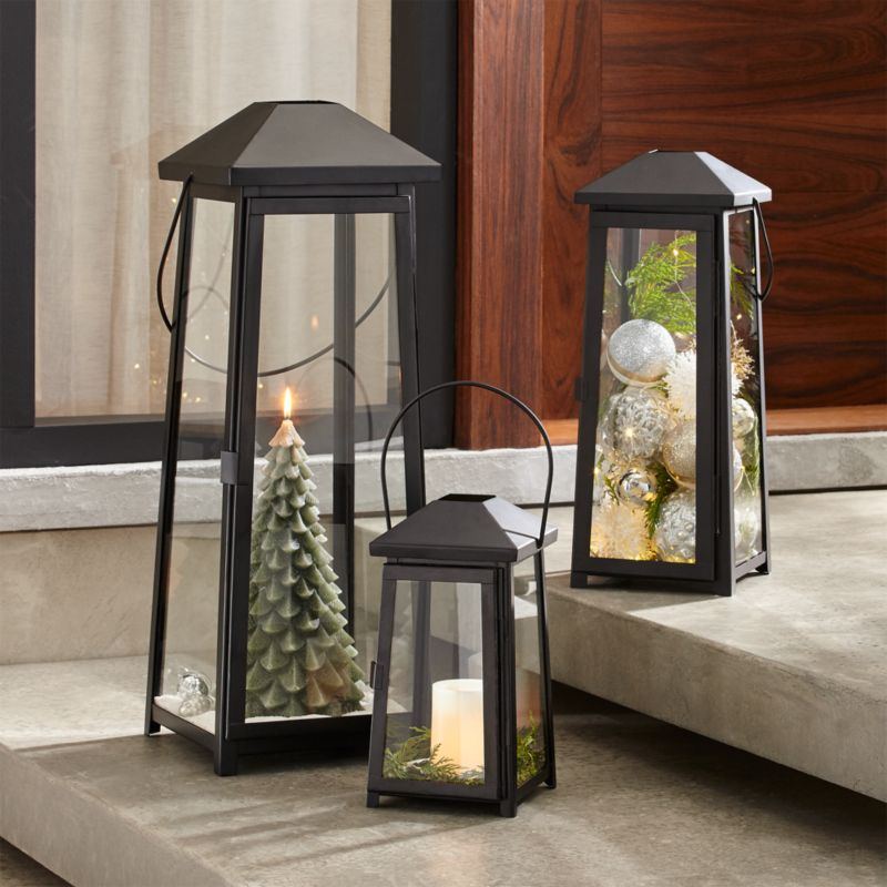 Petaluma Black Metal Lanterns Crate And Barrel