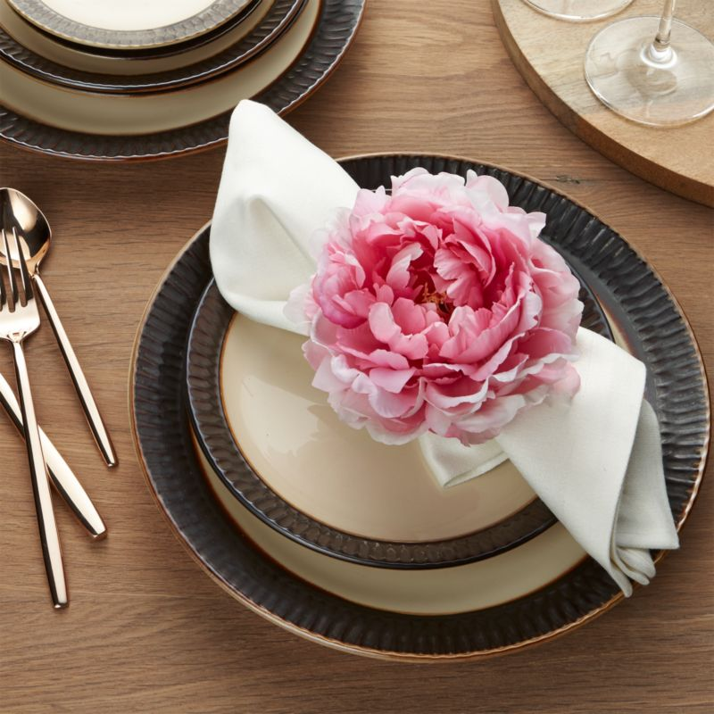 Pink Peony Napkin Ring Crate And Barrel