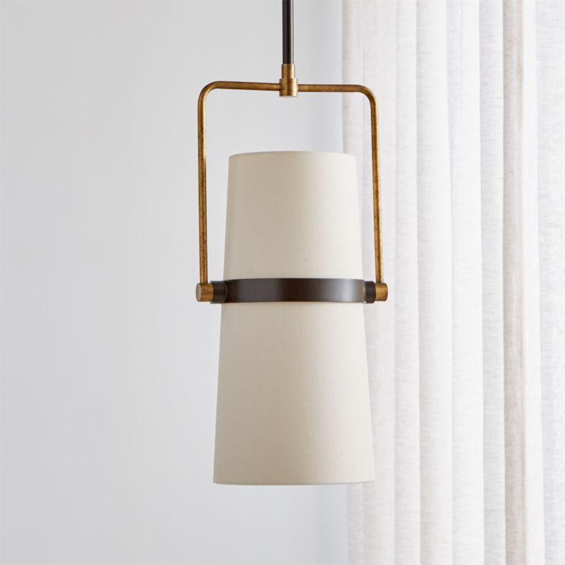Riston Adjustable Pendant Light   Crate and Barrel on Riston Floor Lamp  id=93018
