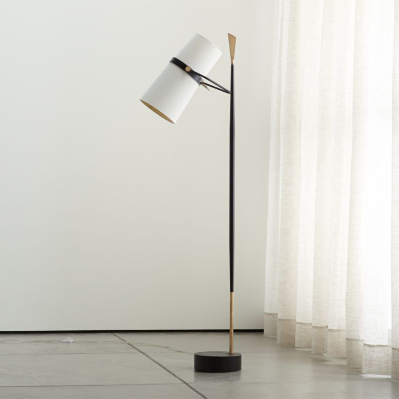 Riston Floor Lamp + Reviews | Crate and Barrel on Riston Floor Lamp  id=81974