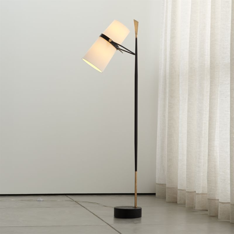 Riston Floor Lamp + Reviews | Crate and Barrel on Riston Floor Lamp  id=89674