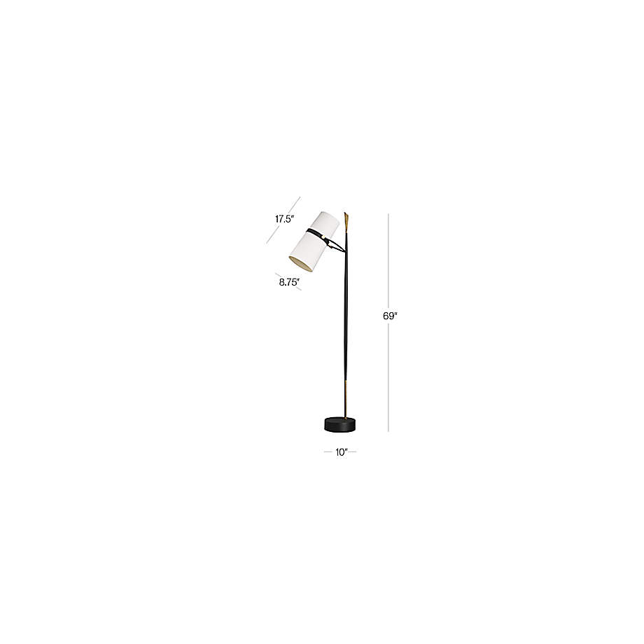 Riston Floor Lamp   Crate and Barrel on Riston Floor Lamp  id=63576