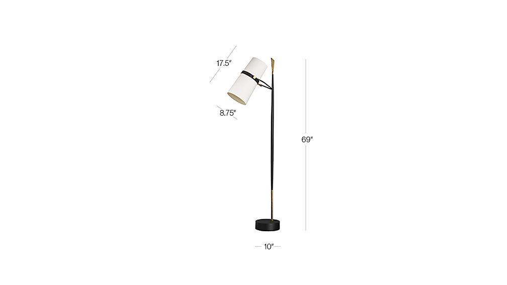 Riston Floor Lamp   Crate and Barrel on Riston Floor Lamp  id=81068