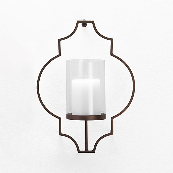 Rosaline Metal Wall Candle Holder in Candle Holders ... on Metal Candle Holders For Wall id=92766