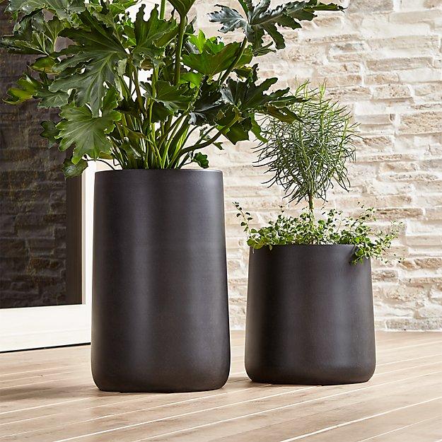 Saabira Fiberstone Planters Crate And Barrel