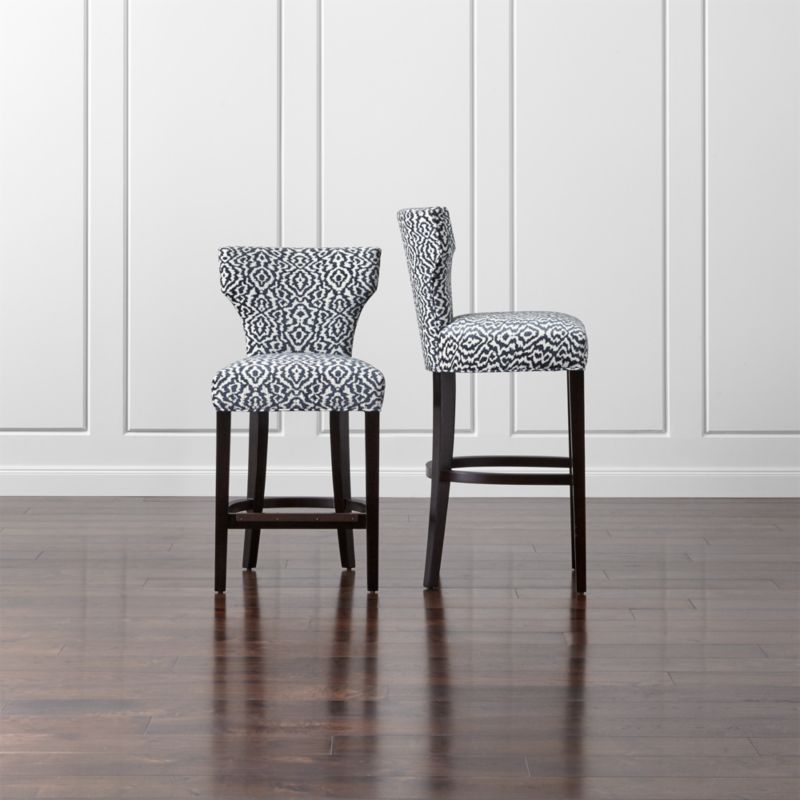 Sasha Black And White Bar Stools Crate And Barrel