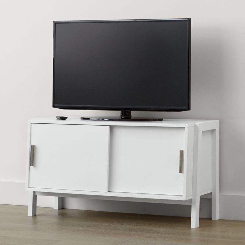 Sawyer Low White Media Stand Crate And Barrel