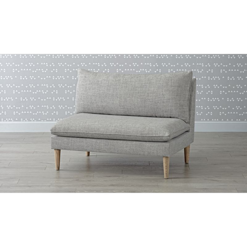 As You Wish Zuma Pumice Upholstered Settee Reviews Crate And Barrel