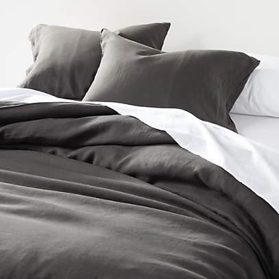 soft linen grey duvet covers and pillow