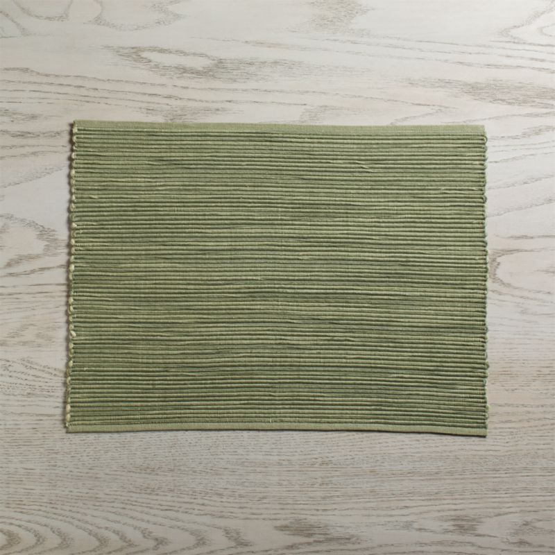 Sonoma Sage Green Placemat Reviews Crate And Barrel