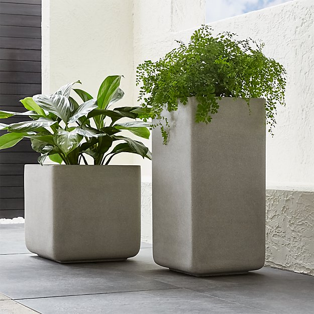 Tall Concrete Planters