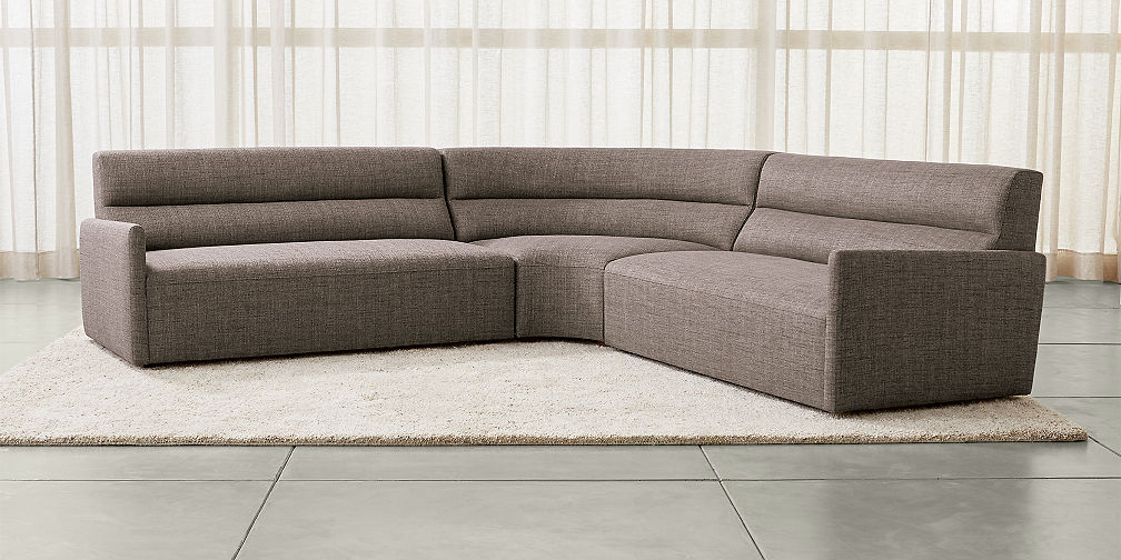 Baxton Studio Dobson Modern Cream Bonded Leather Tufted Sectional