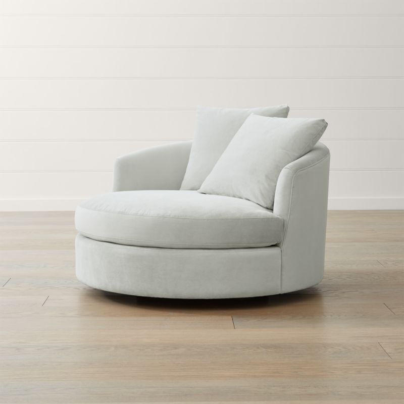 Grey Leather Accent Chair