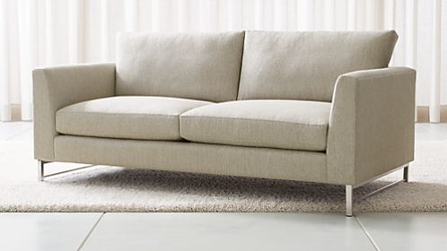 Sofas  Couches and Loveseats on Sale   Crate and Barrel Tyson Apartment Sofa with Stainless Steel Base