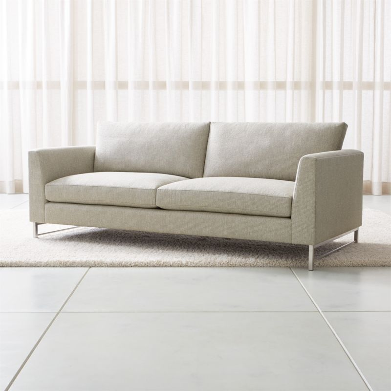 Sofas  Couches and Loveseats on Sale   Crate and Barrel Tyson Sofa with Stainless Steel Base