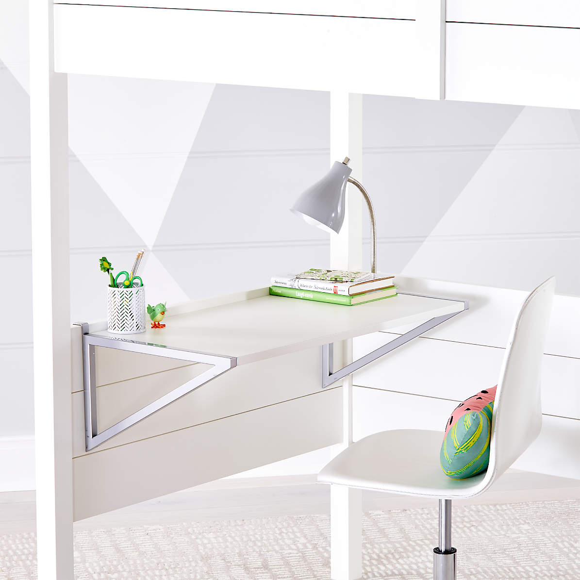 Kids Parke White Loft Bed Desk Reviews Crate And Barrel