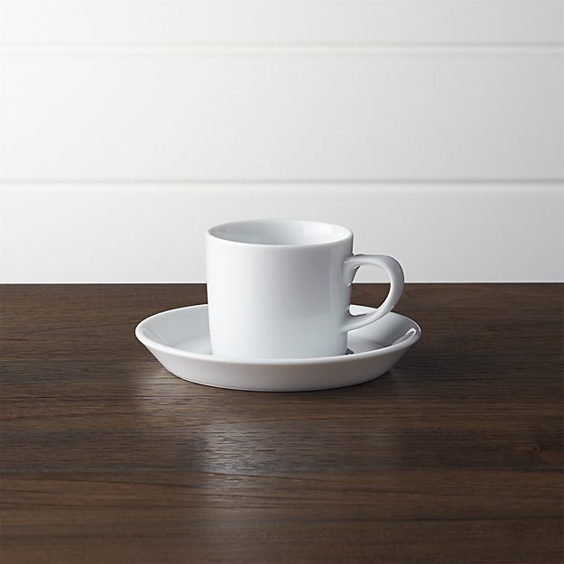 Verge 4 Oz Espresso Cup And Saucer Crate And Barrel