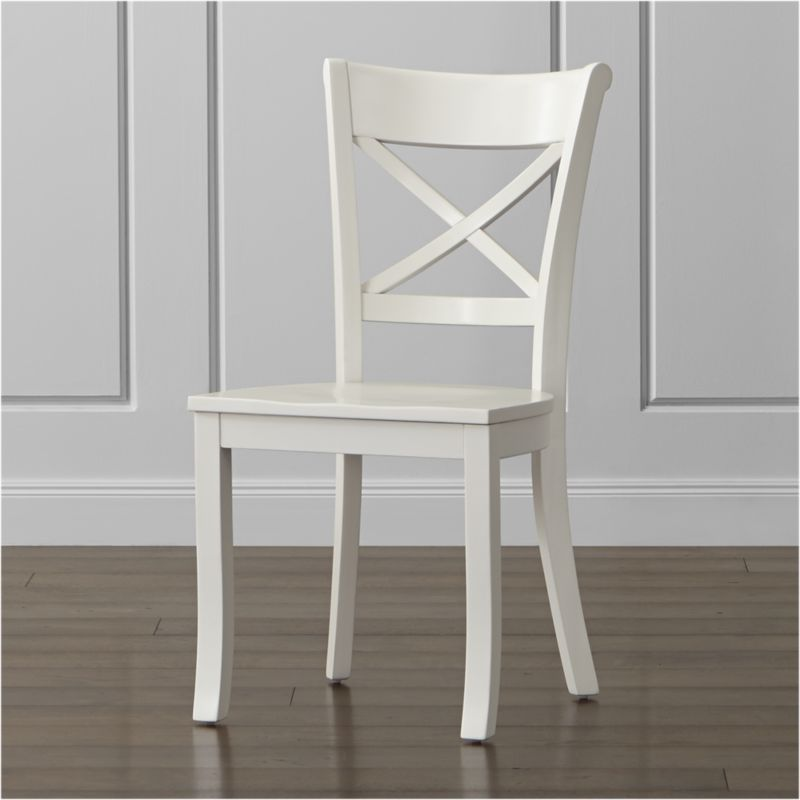 Vintner White Wood Dining Chair Crate And Barrel