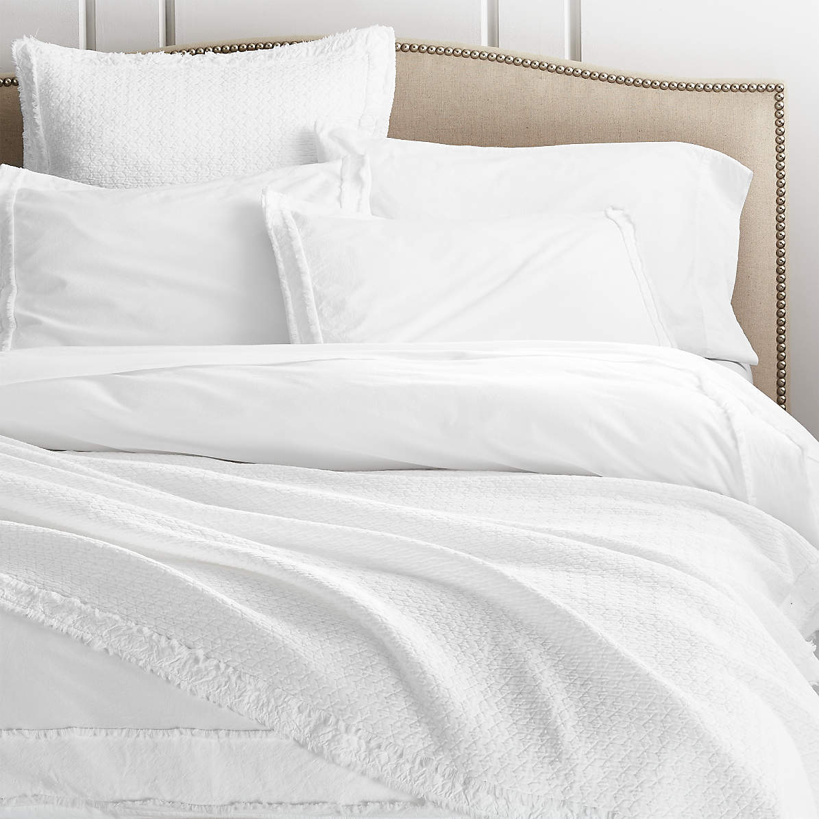 organic cotton white king duvet cover