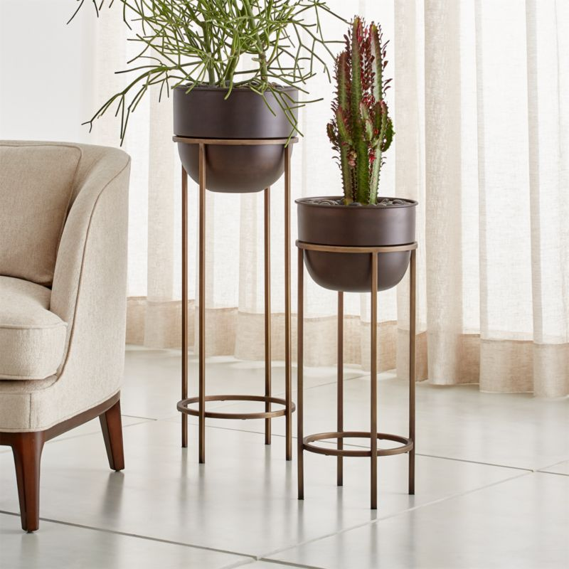 Wesley Metal Plant Stands Crate And Barrel