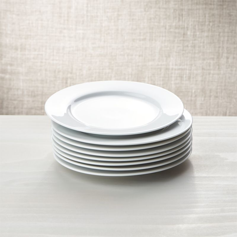 White Porcelain Salad Plates Set Of 8 Reviews Crate