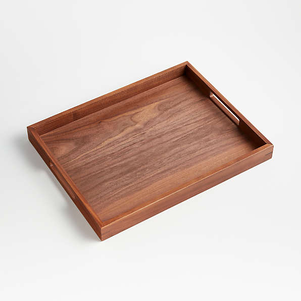 wood serving trays crate and barrel