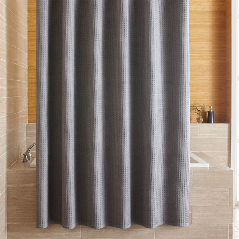 Willow Grey Shower Curtain Crate And Barrel