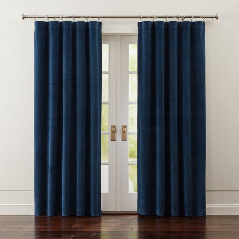 Windsor Blue Velvet Curtains Crate And Barrel