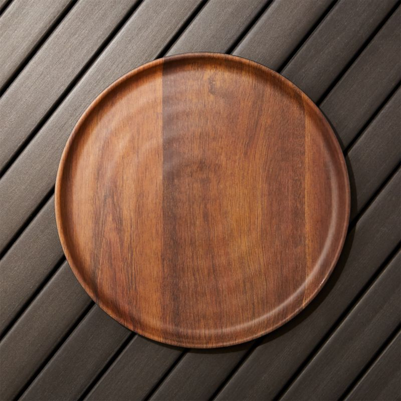 Wood Grain Melamine Dinner Plate Reviews Crate And Barrel