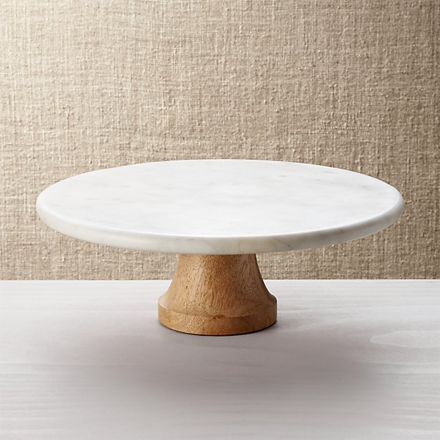 Wood Marble Pedestal Crate And Barrel