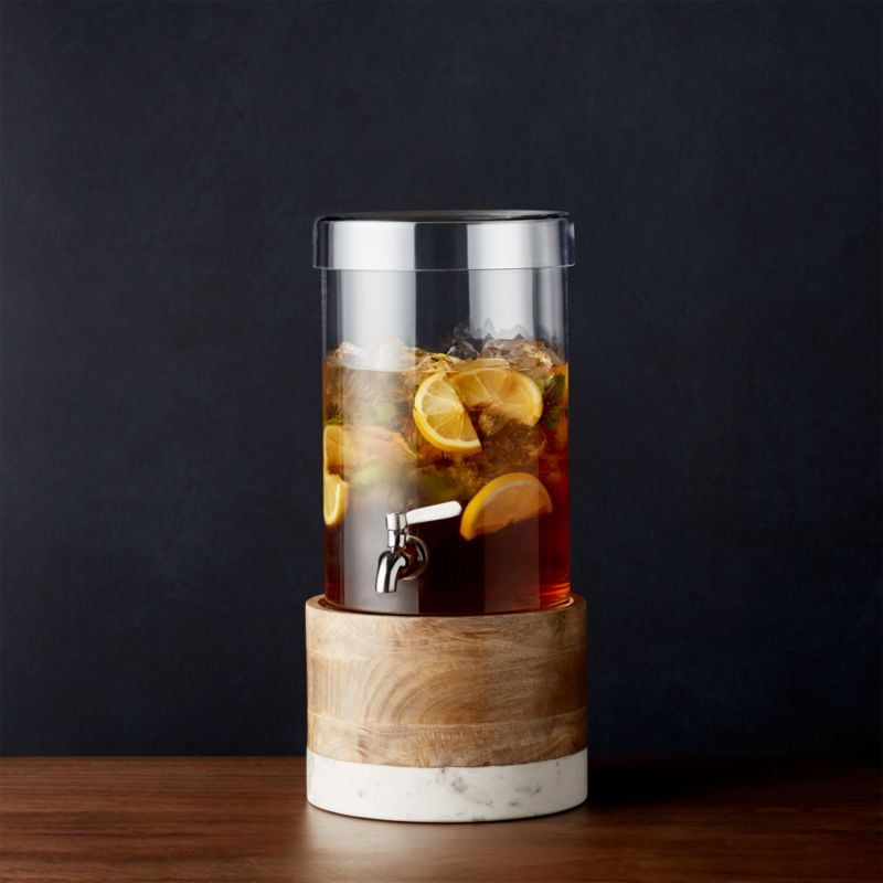 Cold Drink Dispenser With Wood Marble Stand Reviews