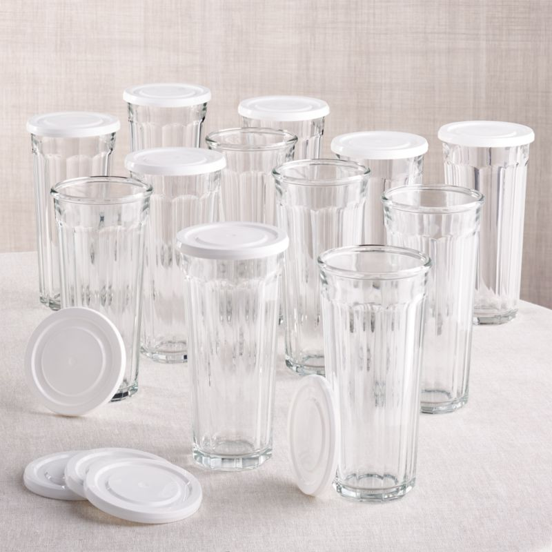 24 Oz Working Glass With Lid Set Of 12 Reviews Crate