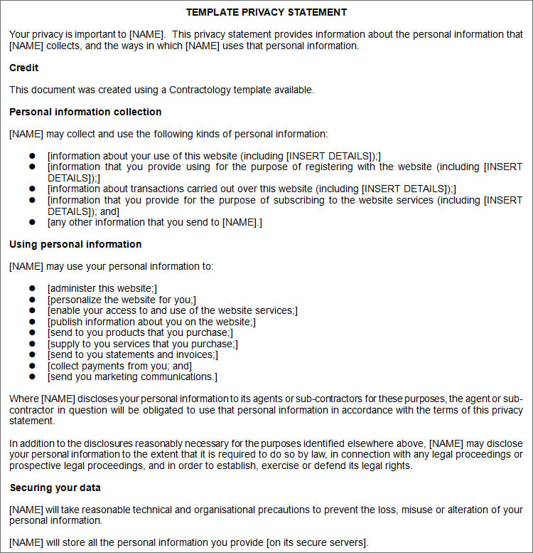 13 privacy policy templates free pdf samples examples on Privacy Policy id=77933