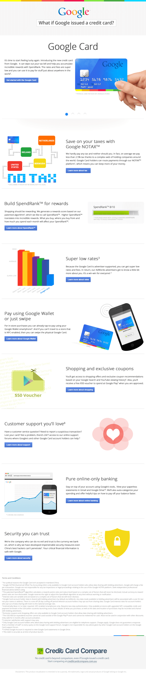 Has Google released its own credit card?