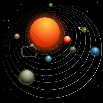 Image 2467958 Solar System from Crestock Stock Photos