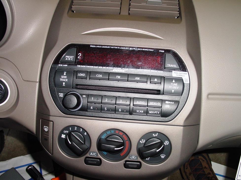 2006 Nissan Altima Interior Aux Cord