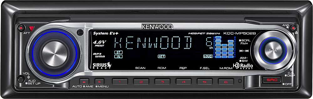 Kenwood Kdc Mp Cd Receiver With Mp3 Wma Aac