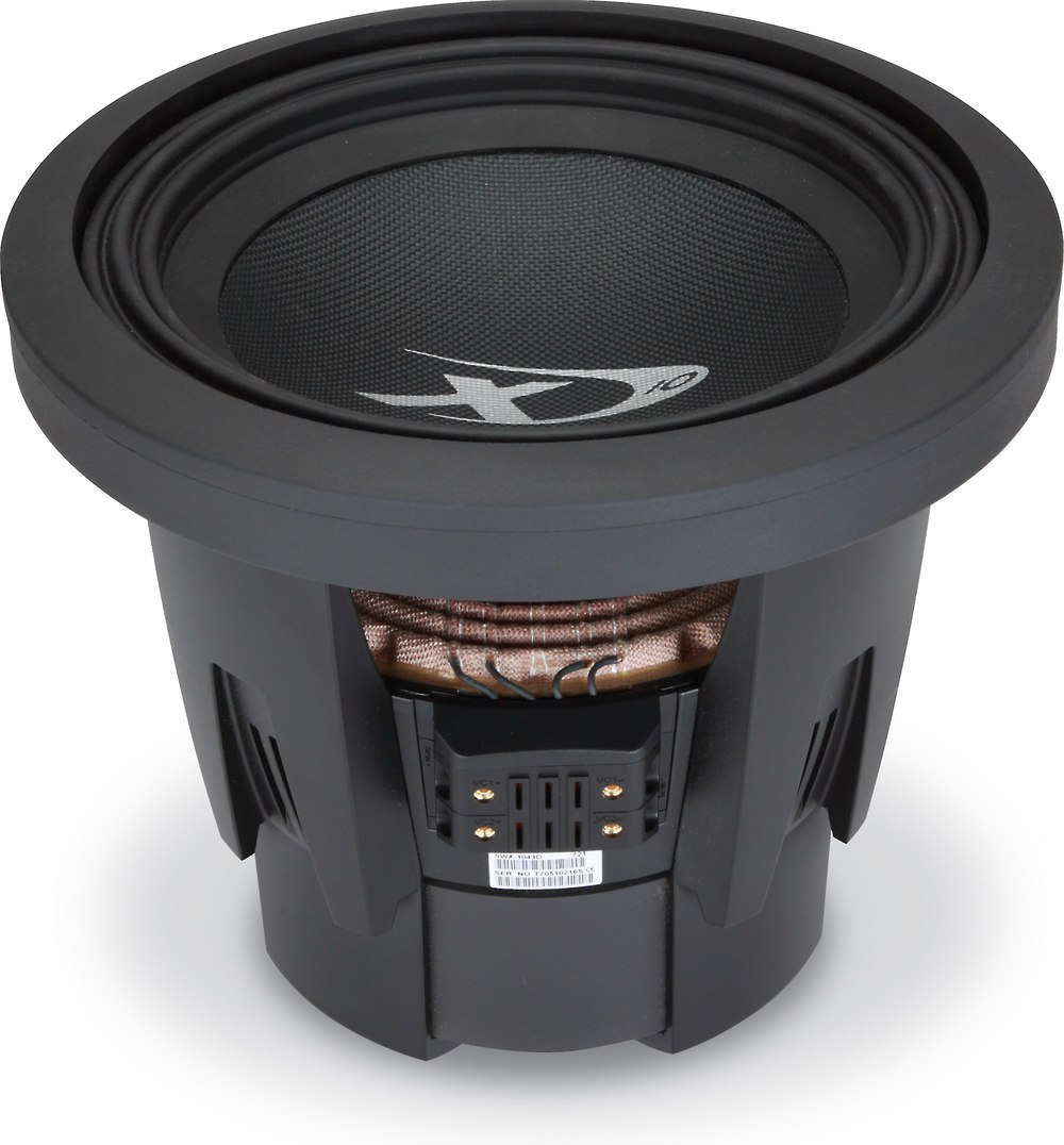 Alpine SWX 1043D Type X 10 Subwoofer With Dual 4 Ohm