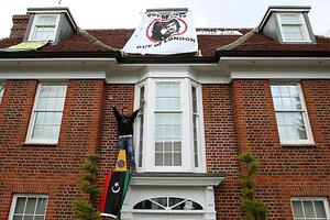 Image result for Muammar Gaddafi  Winnington Close home