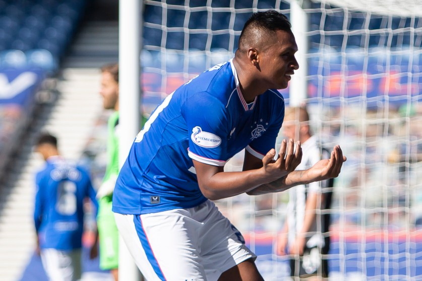 090820 Rangers vs St Mirren Morelos Goal Celebration 50