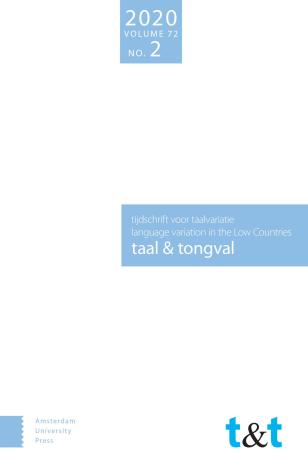 voorkant taal&tongval 2020-2