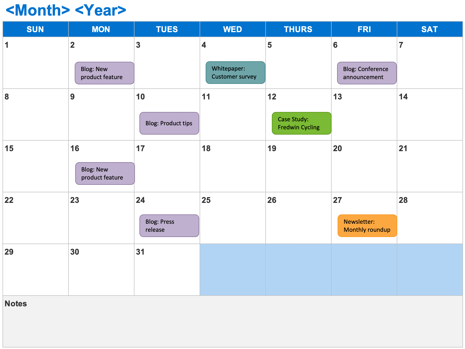 Overview of all products overview of hubspot's free tools marketing automation softwa. 6 Free Marketing Calendar Templates Aha